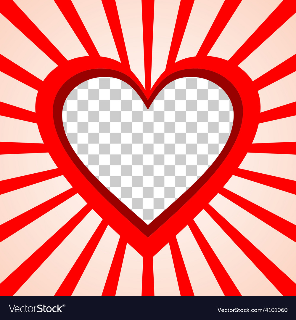 Valentines Day background frame with heart and