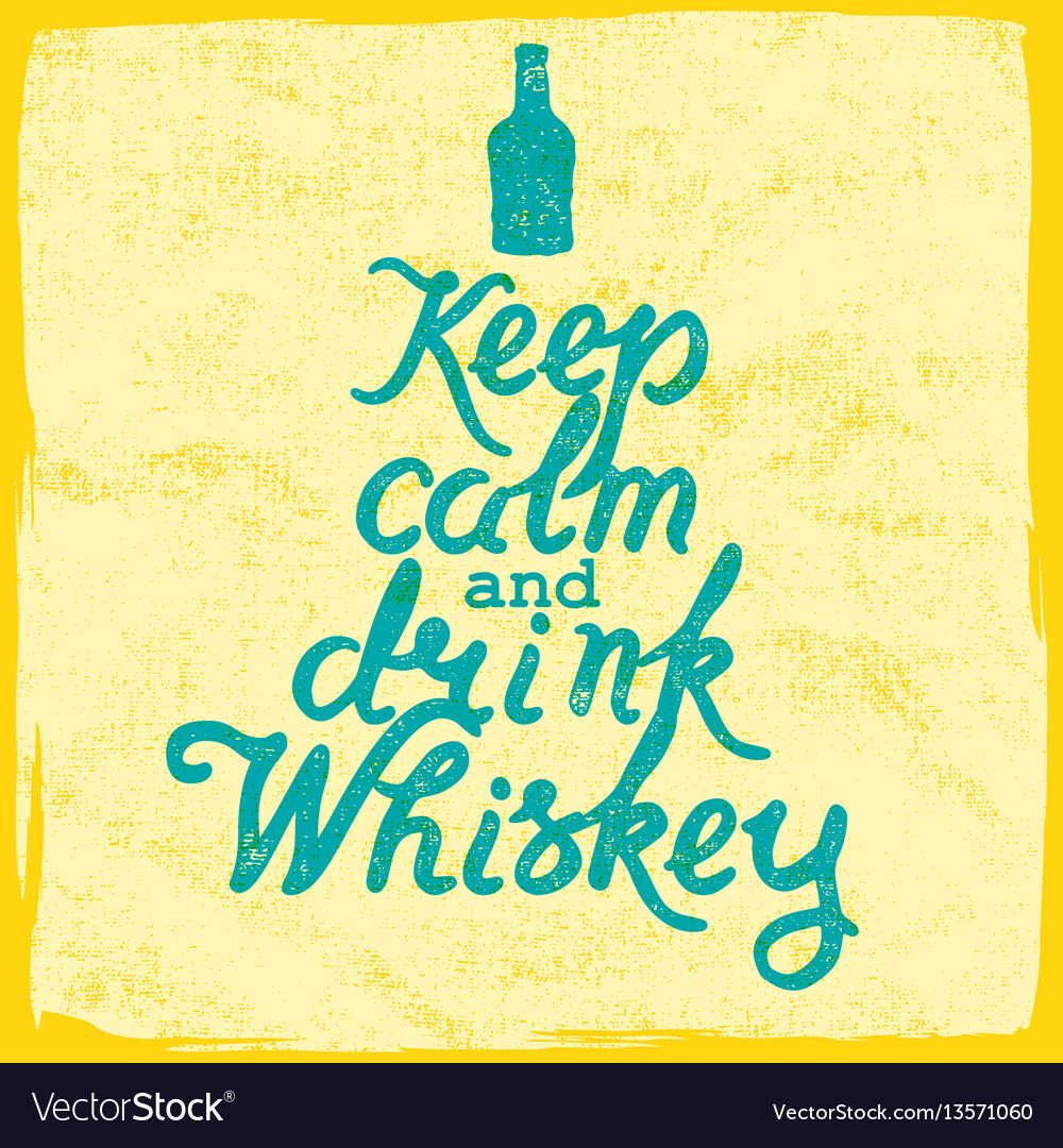 Whiskey lettering art