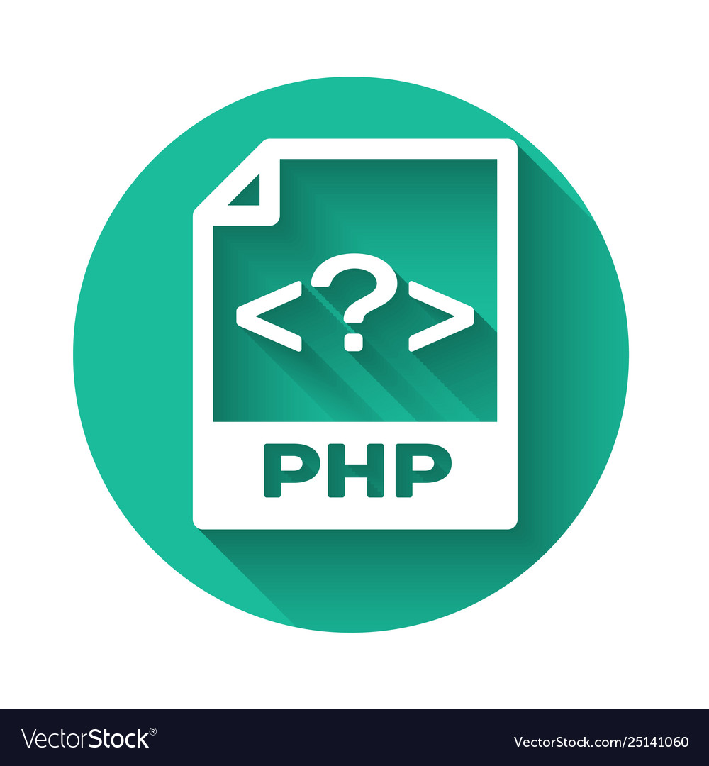 White php file document icon download php button