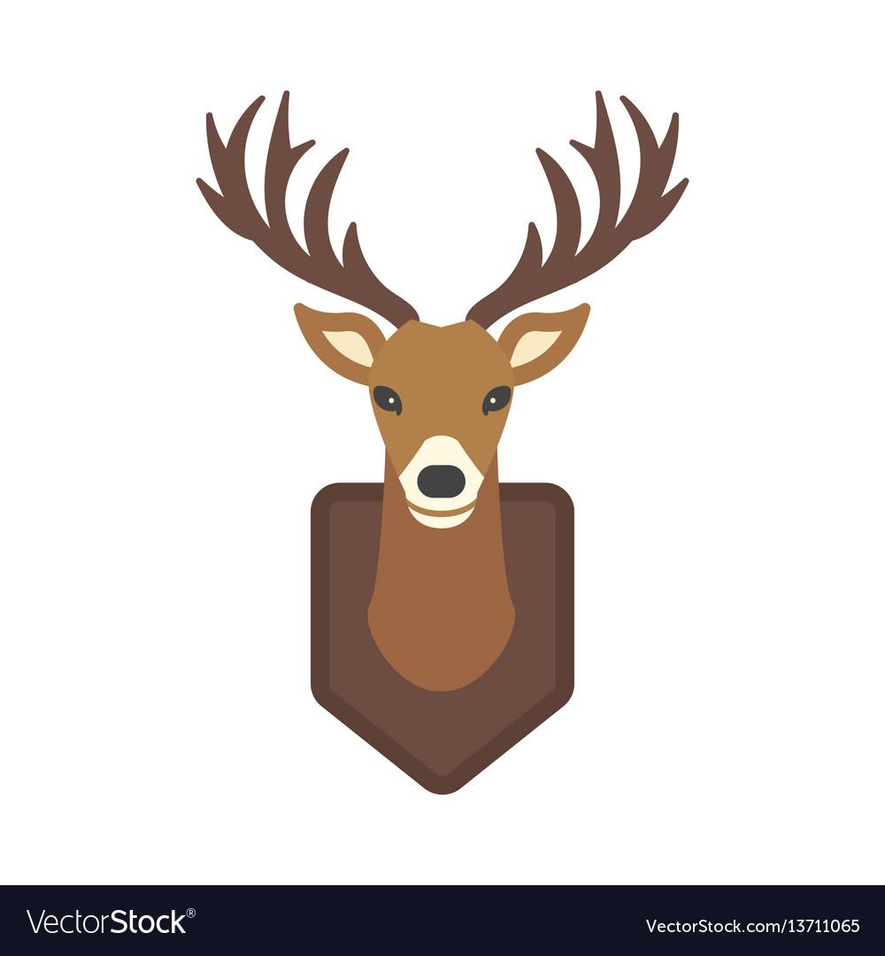 Deer head wild silhouette mammal reindeer wildlife