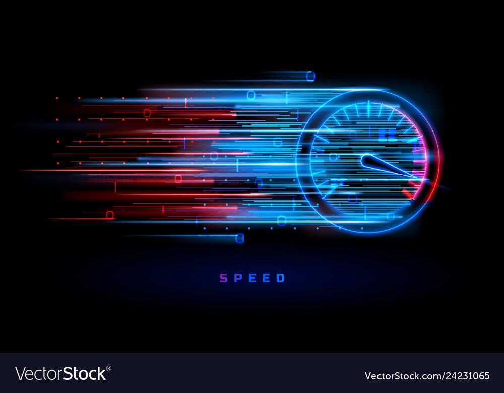 Download progress bar or round indicator speed