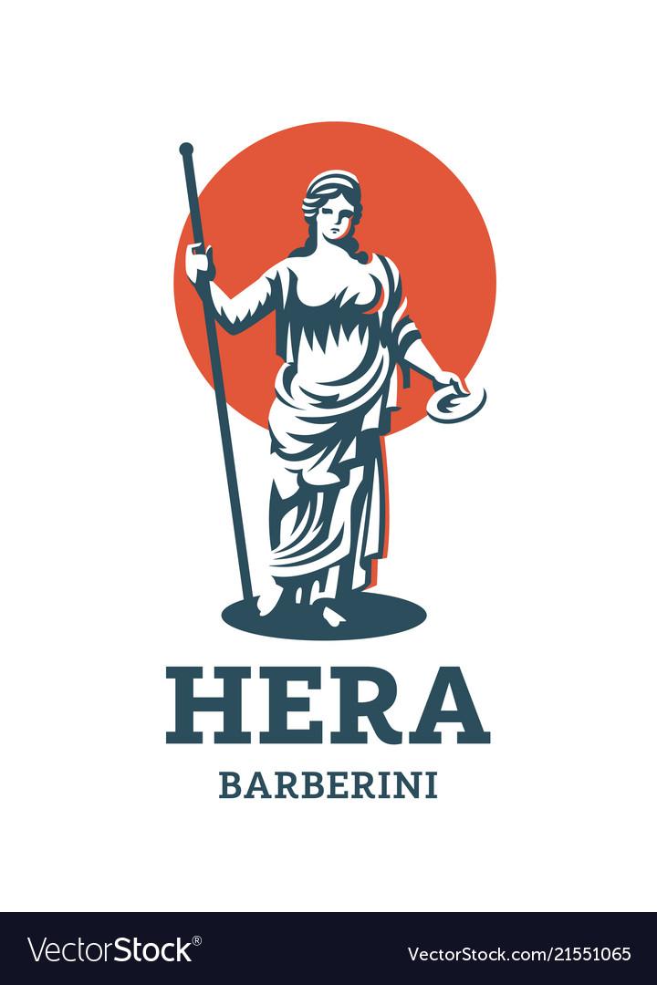 Greek Goddess Hera Royalty Free Vector Image Vectorstock