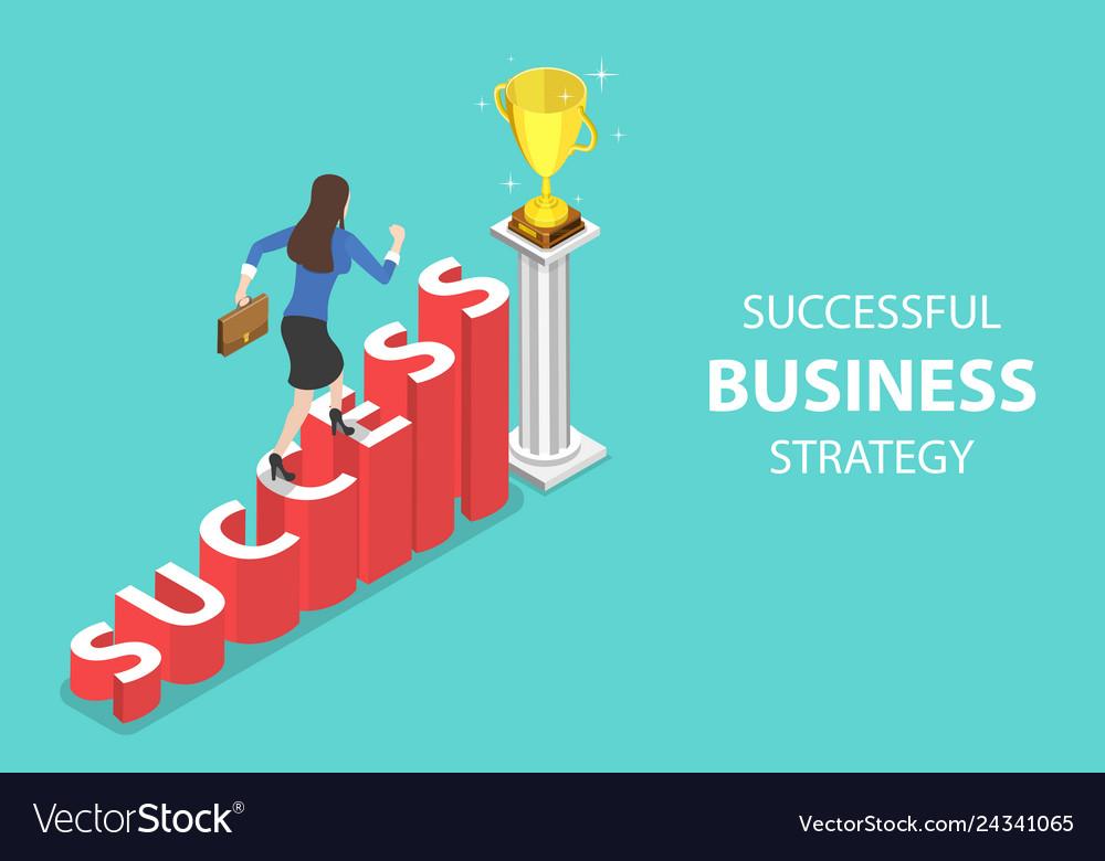 Isometric flat concept of success