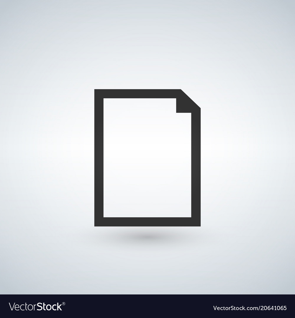 New blank document icon isolated for graphic and