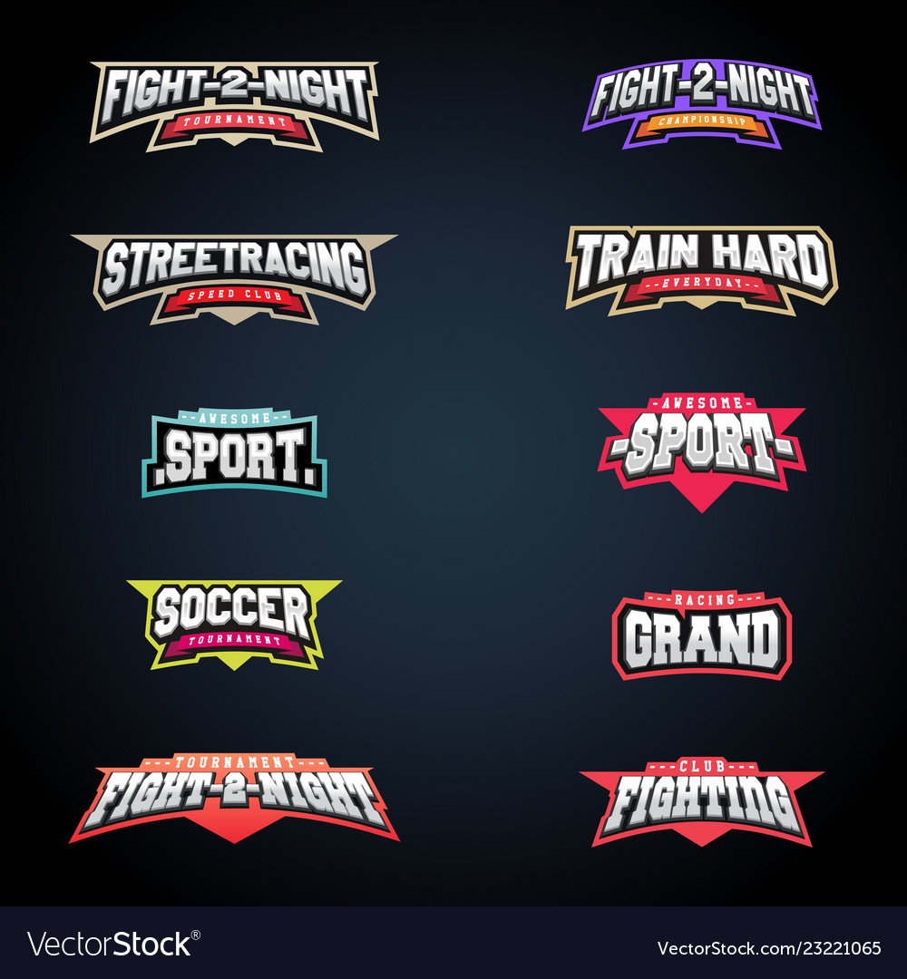 Sport emblem typography set super logo for your