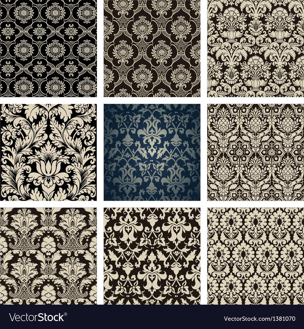 Baroque Floral Pattern Set