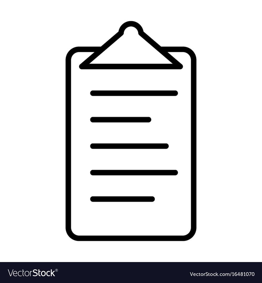 Checklist line icon clipboard symbol