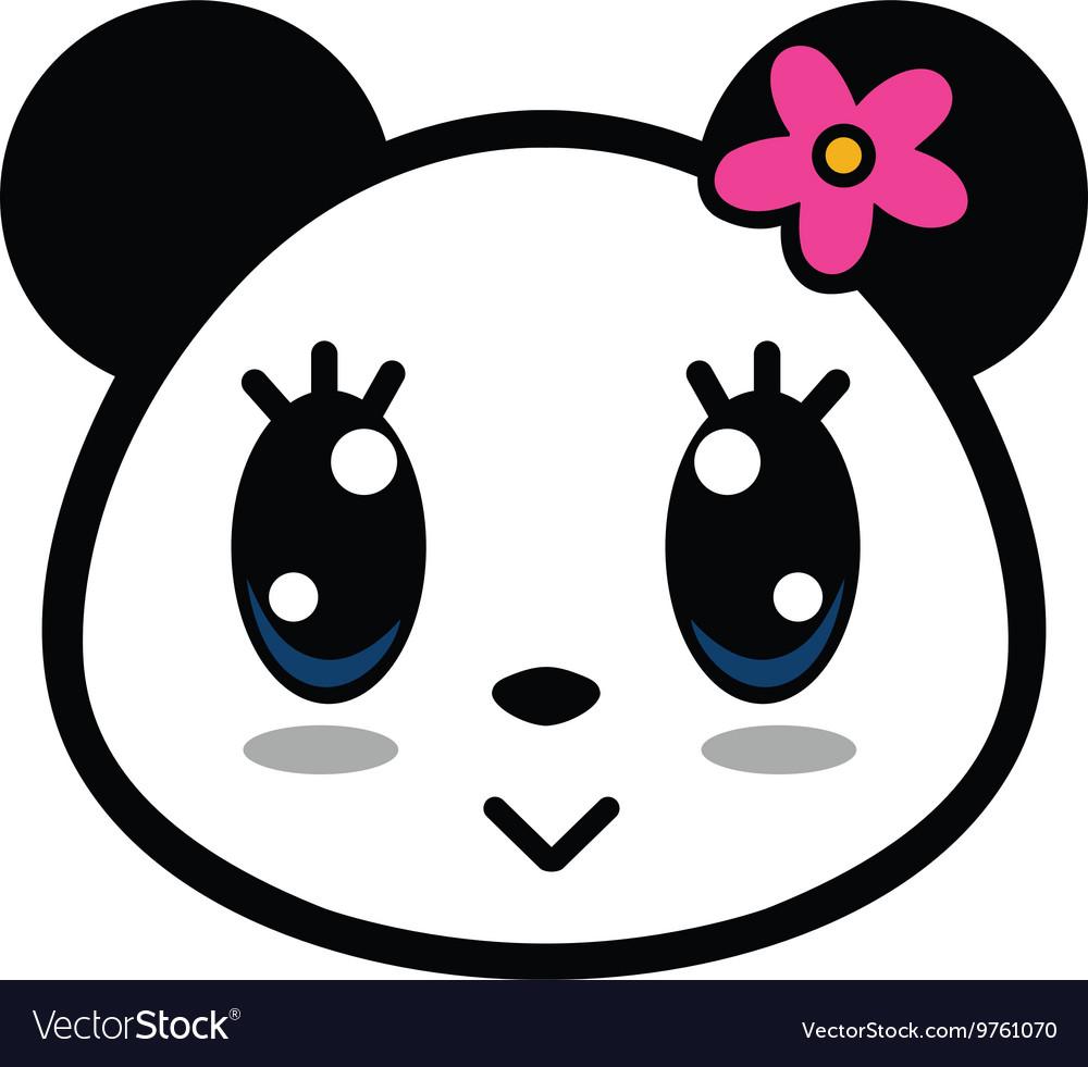 Cute Panda Girl With Big Eyes vector image
