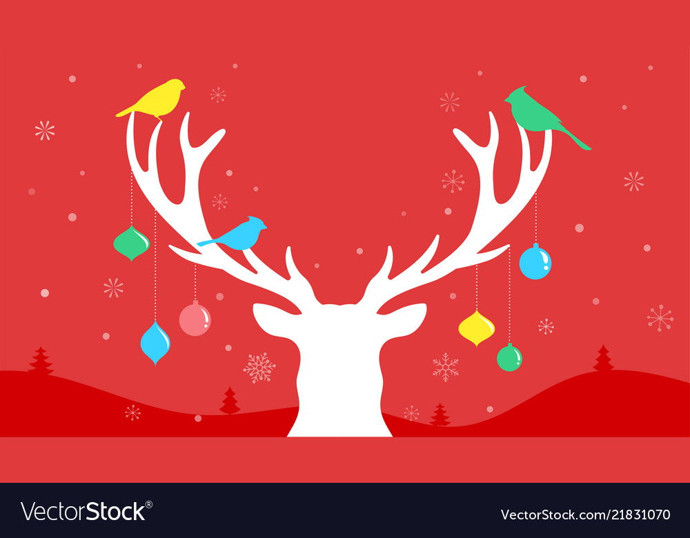 merry christmas banner xmas template background vector image