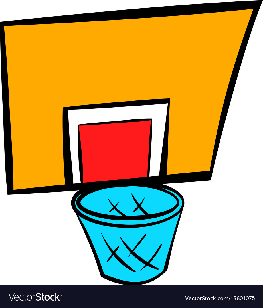 Basketball goal icon icon cartoon