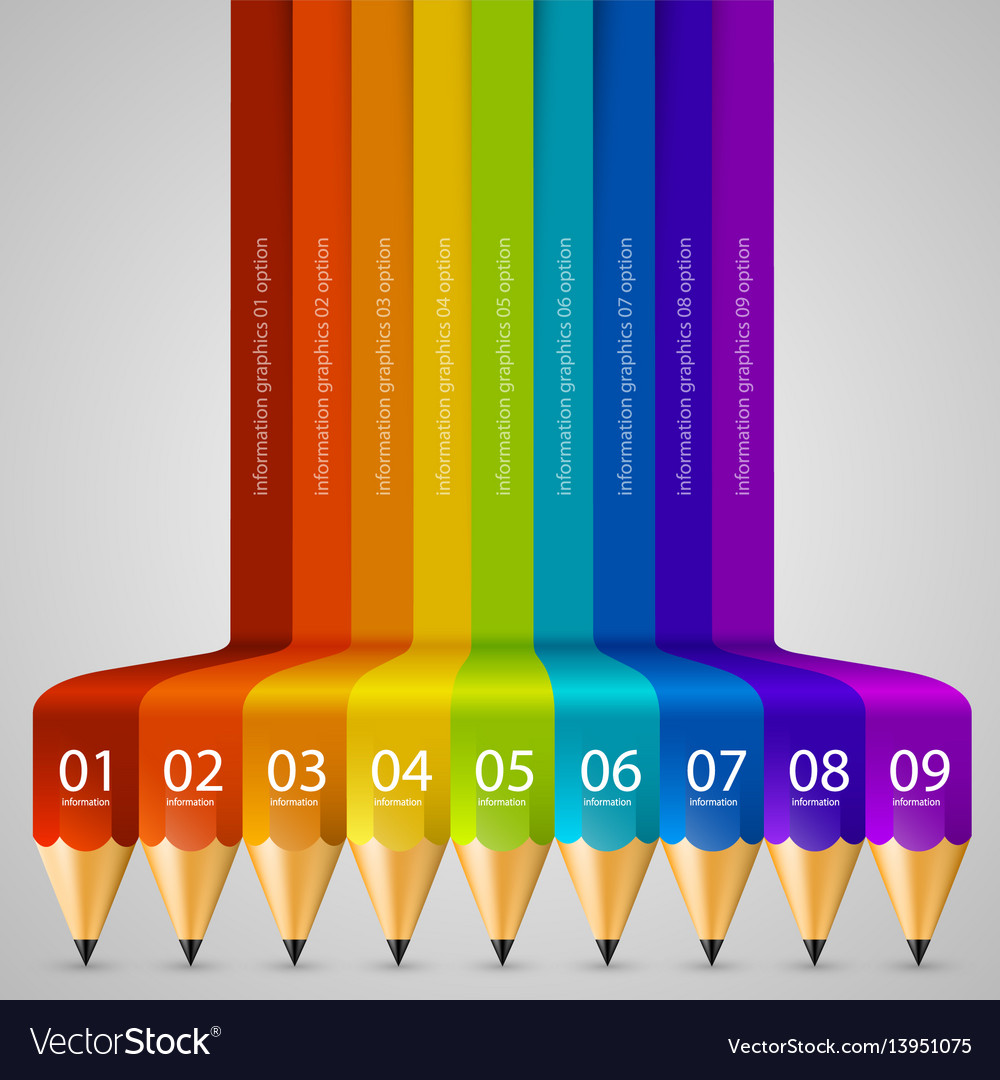Colour abstract pencil background