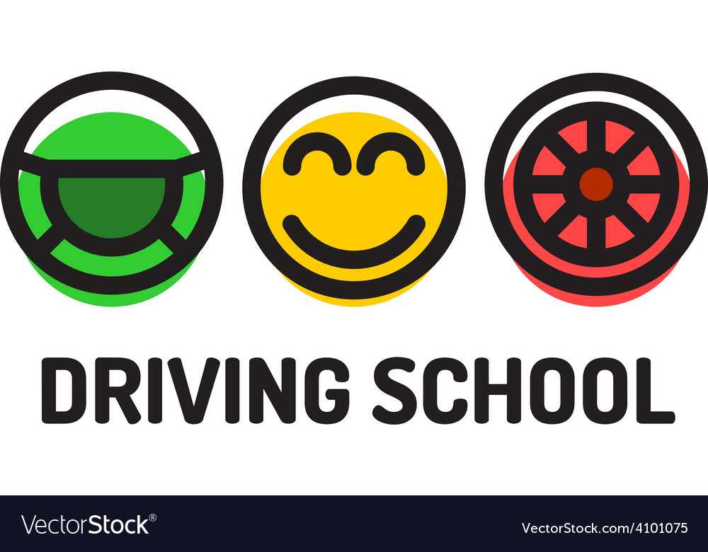 Driving school logo template Symbols of driving