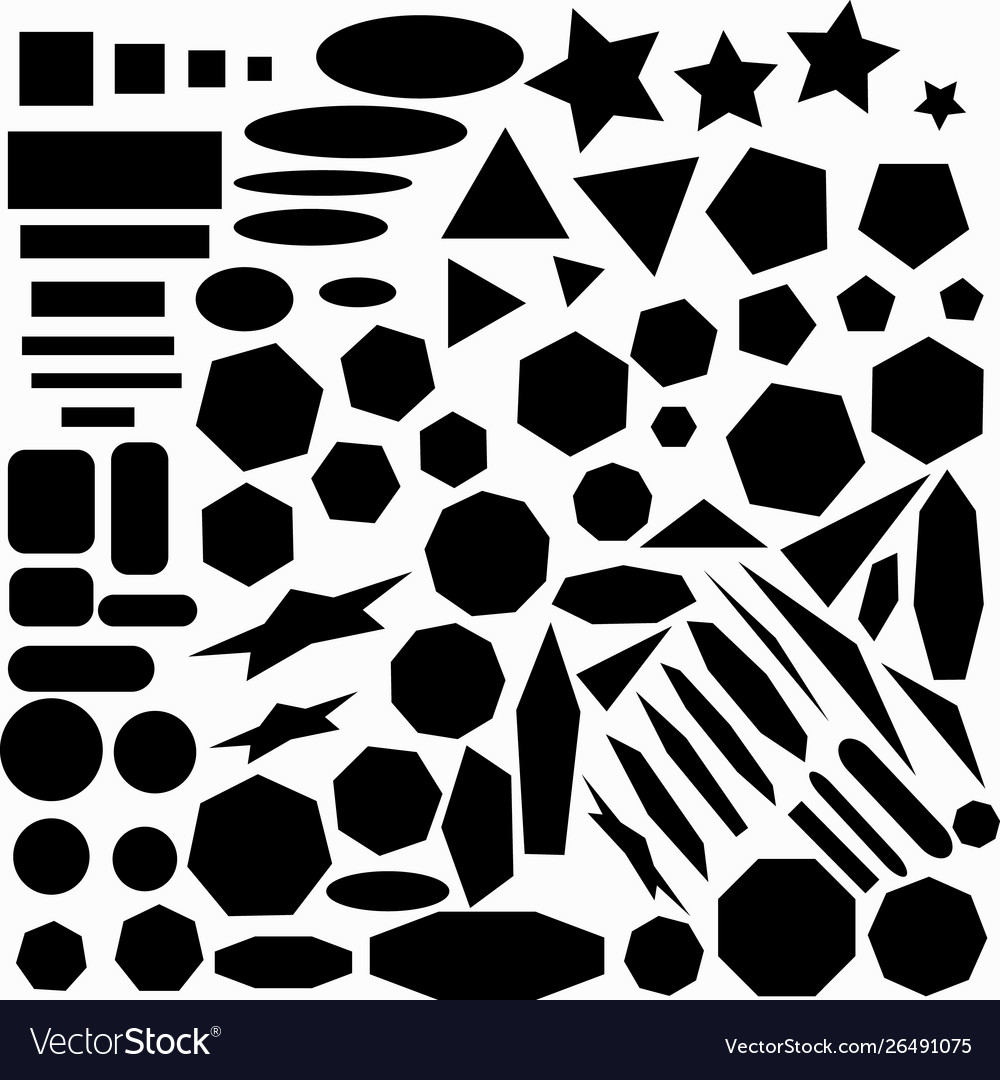 Large collection geometric abstract monochrome