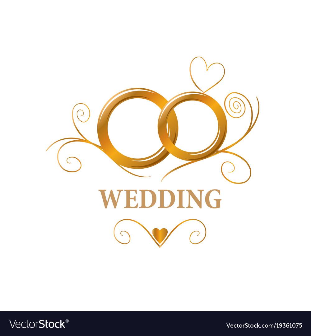 logo wedding royalty free vector image vectorstock