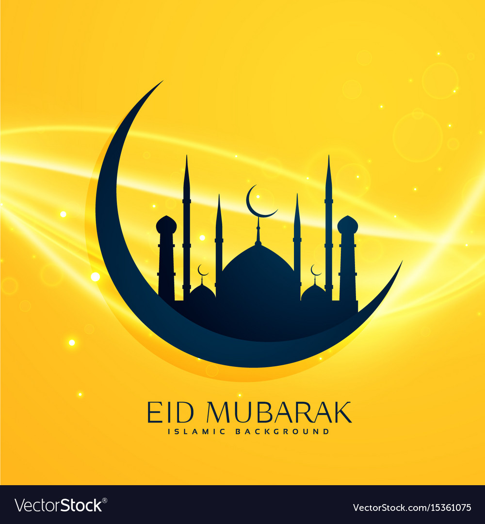 Muslim religion eid festival greeting design with vector image m4hsunfo