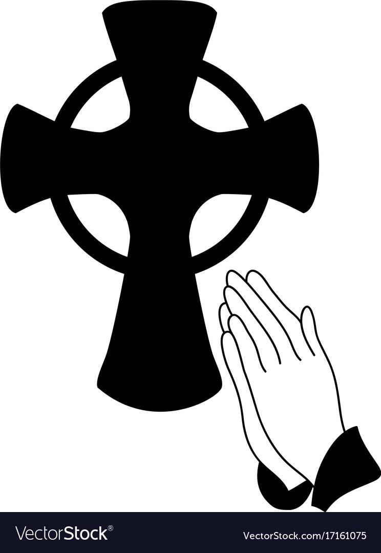 Praying Hands Royalty Free Vector Image Vectorstock