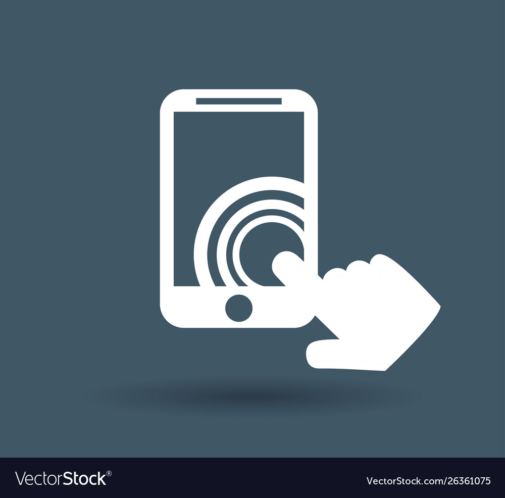 Touch screen icon on white background
