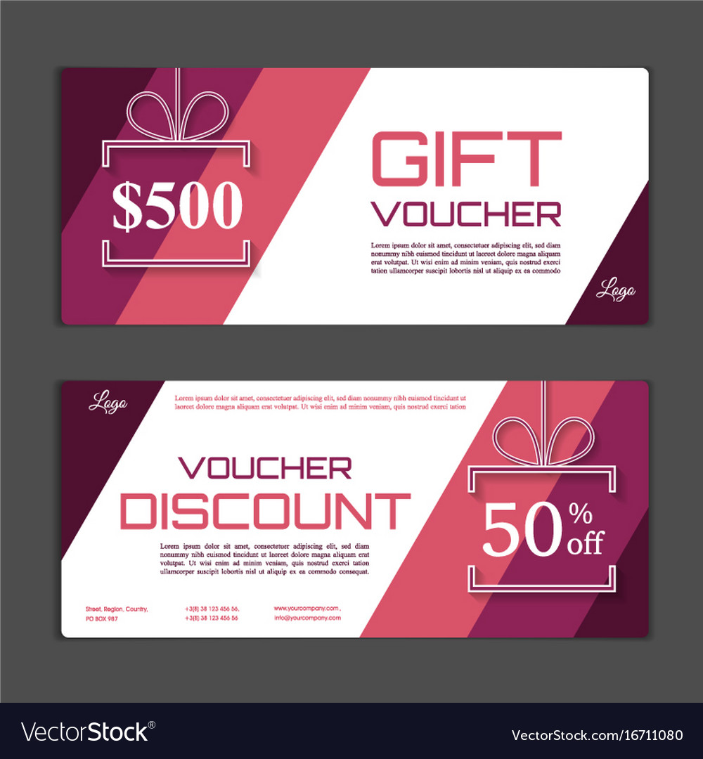 gift voucher template can be use for shopping vector image