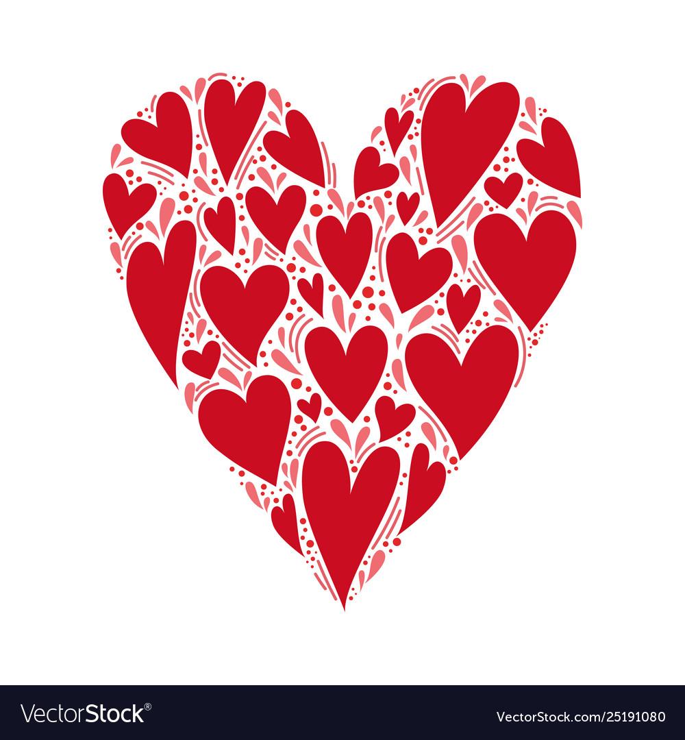 Heart shape isolated on white background