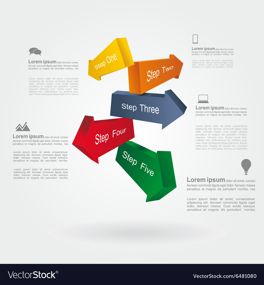 Infographic report template with place for your