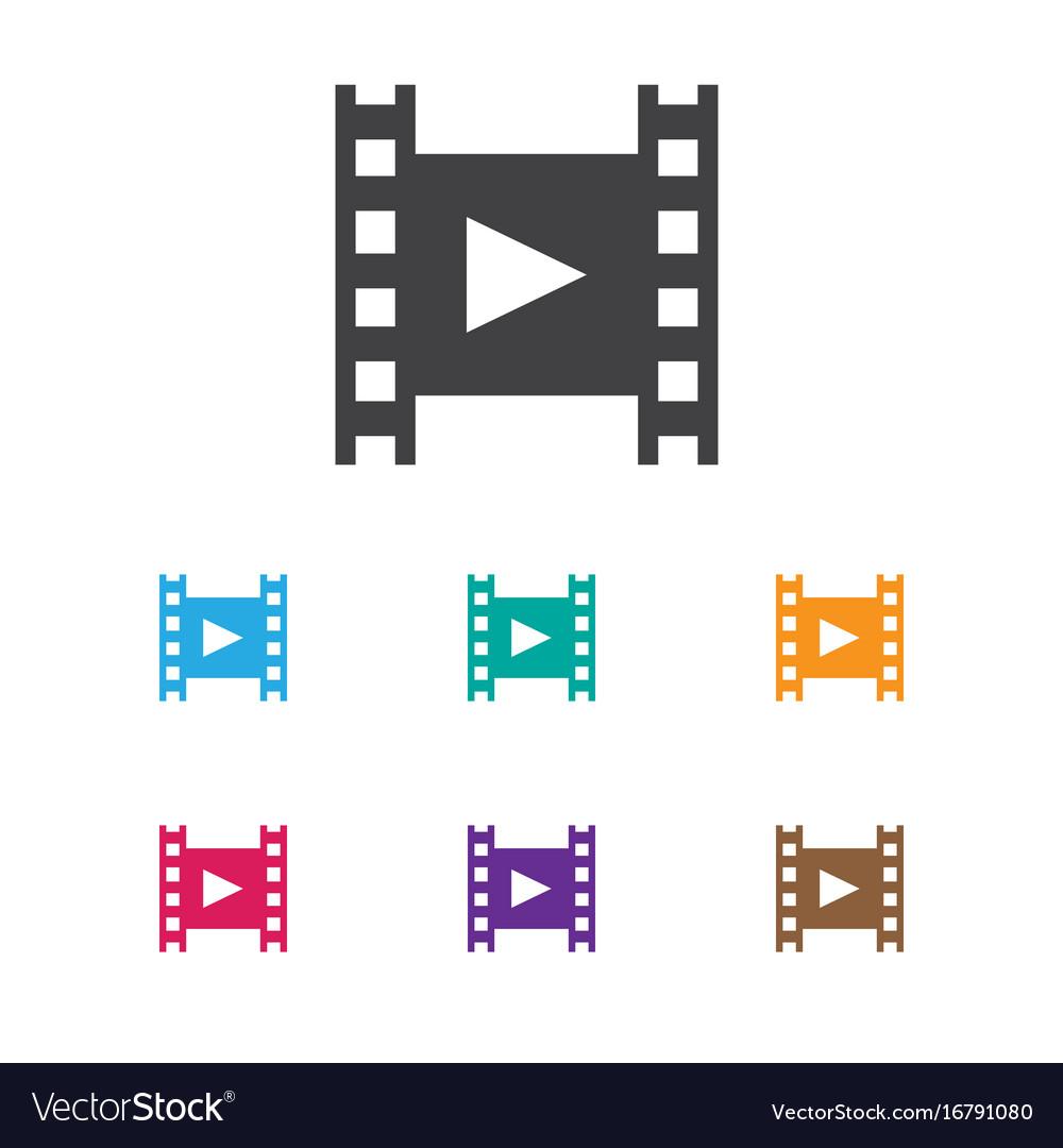 Of cinema symbol on reel icon vector image