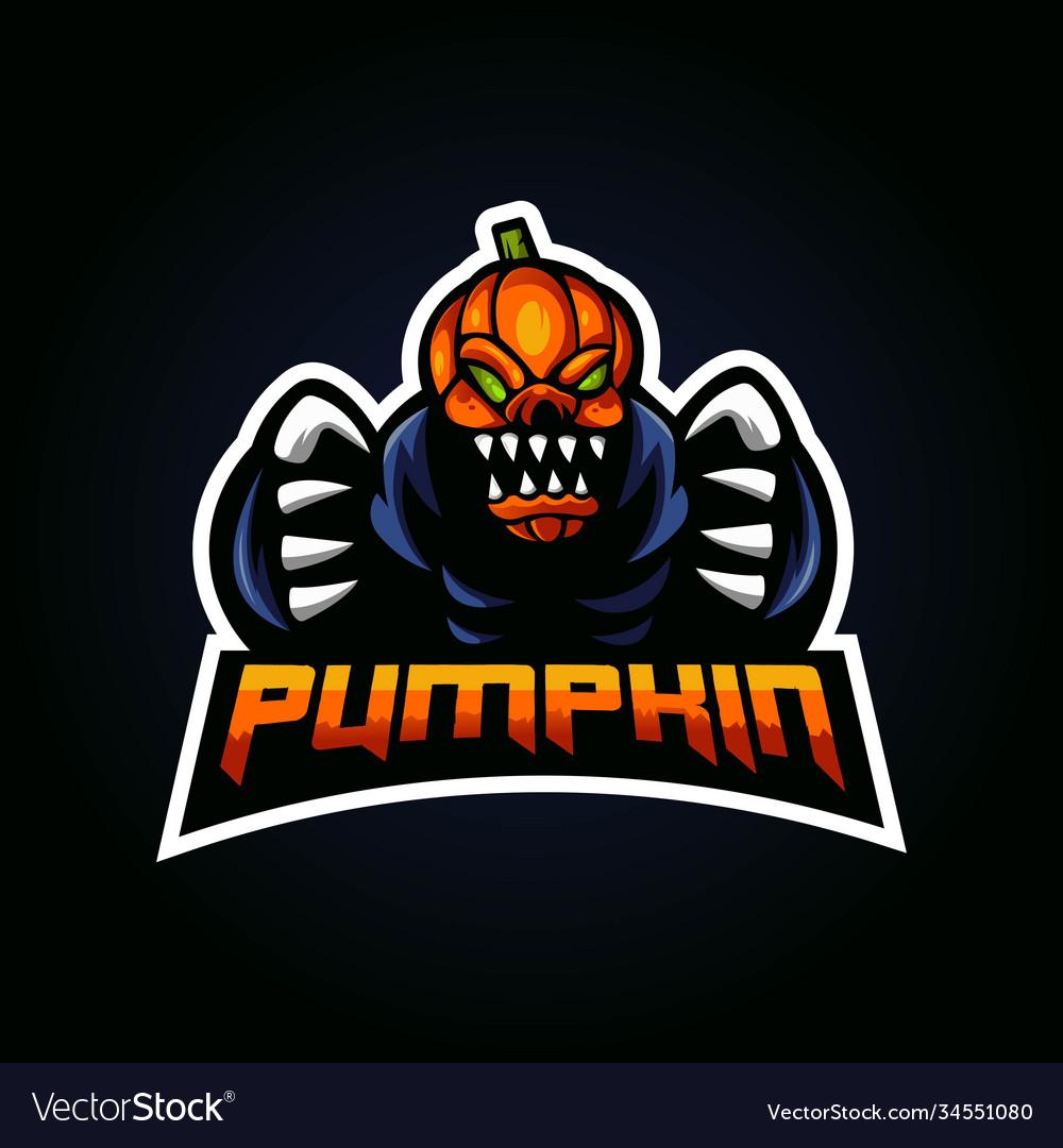 Pumpkin mascot logo