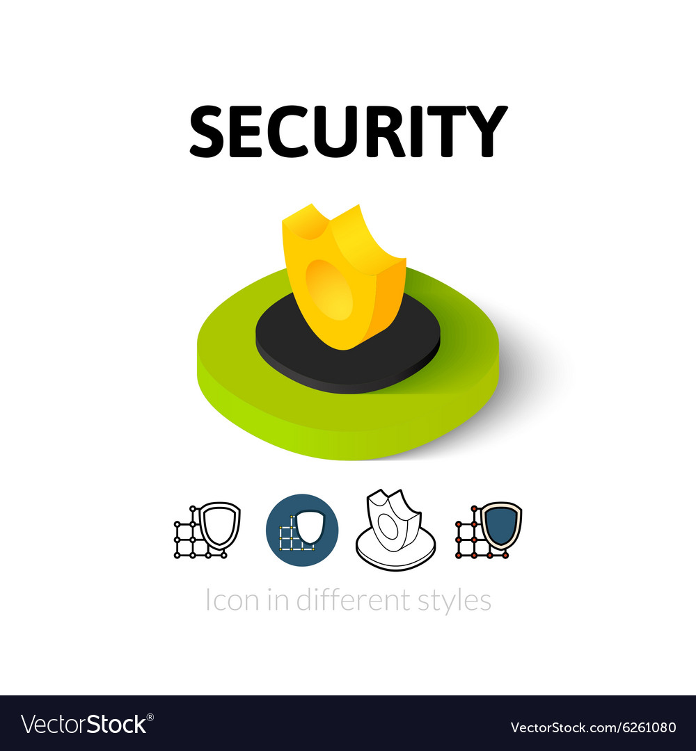 Security icon in different style