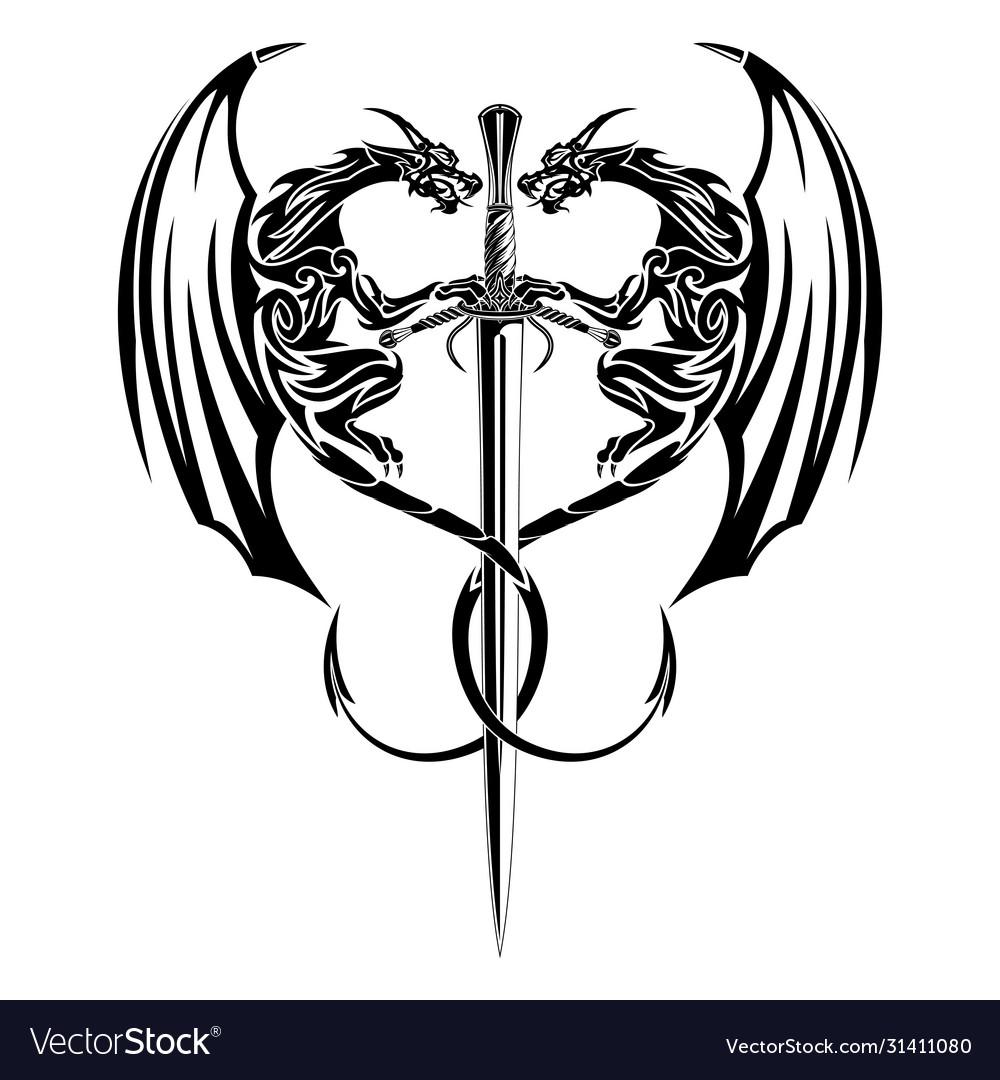 Two dragon sword