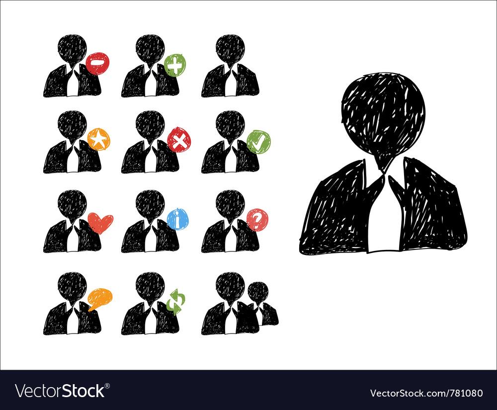 Web sketch icons vector image