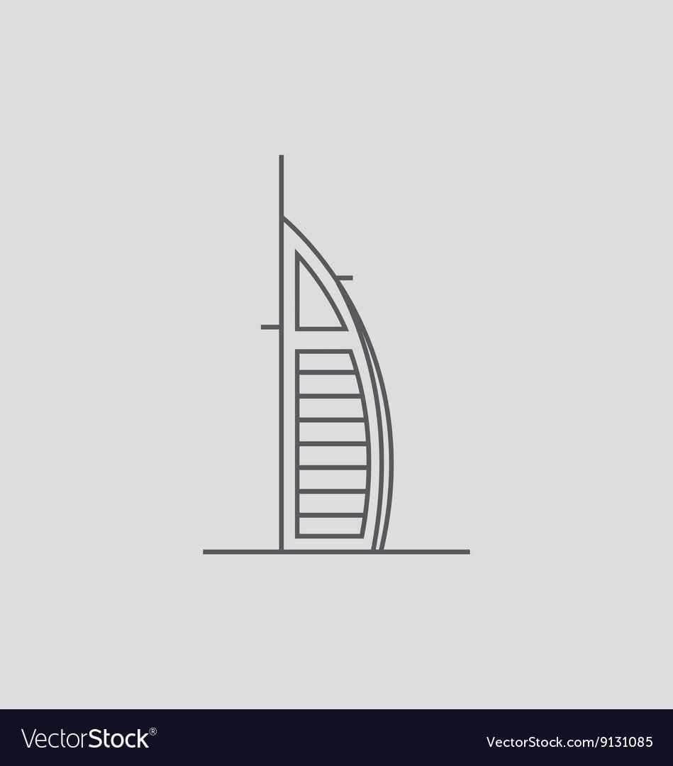 Burj Al Arab vector image