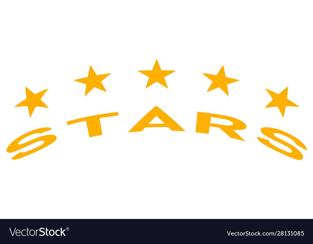 Logo five stars icon quality mark symbol
