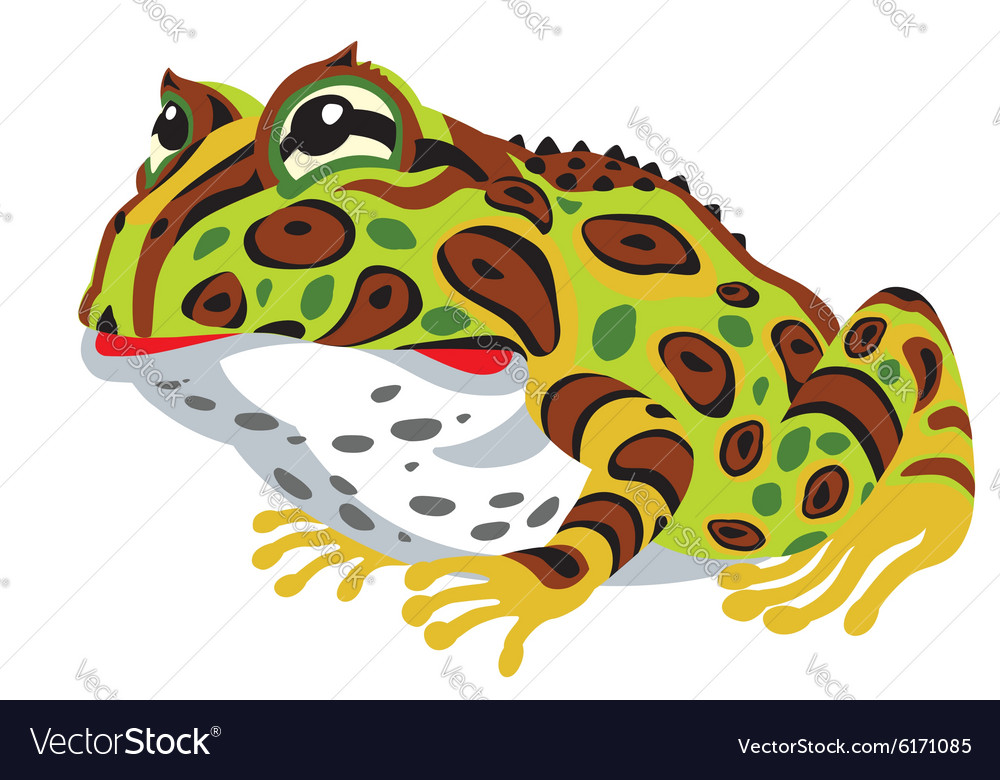 pac man horned frog royalty free vector image vectorstock rh vectorstock com TCU Horned Frogs TCU Horned Frogs Mascot