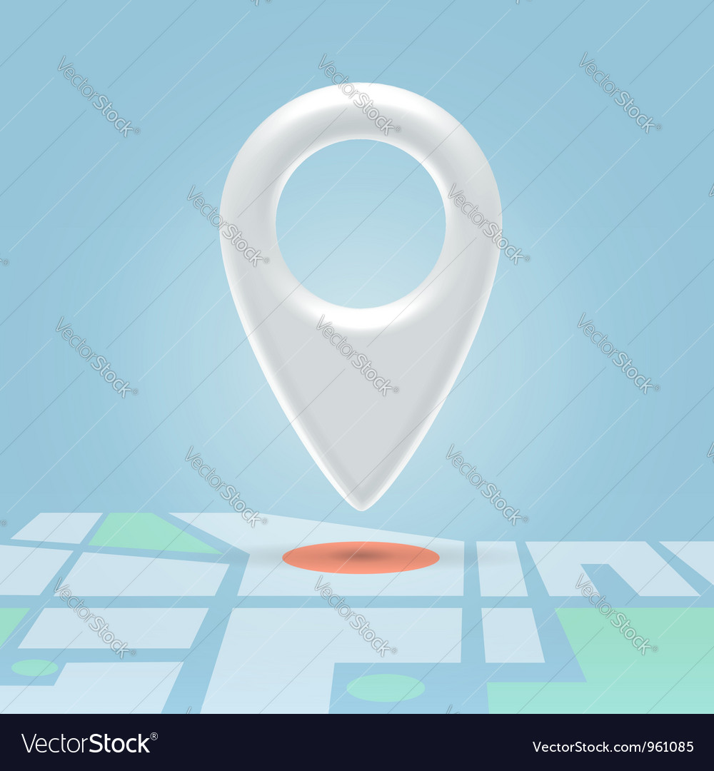 Plastic map pin over spot