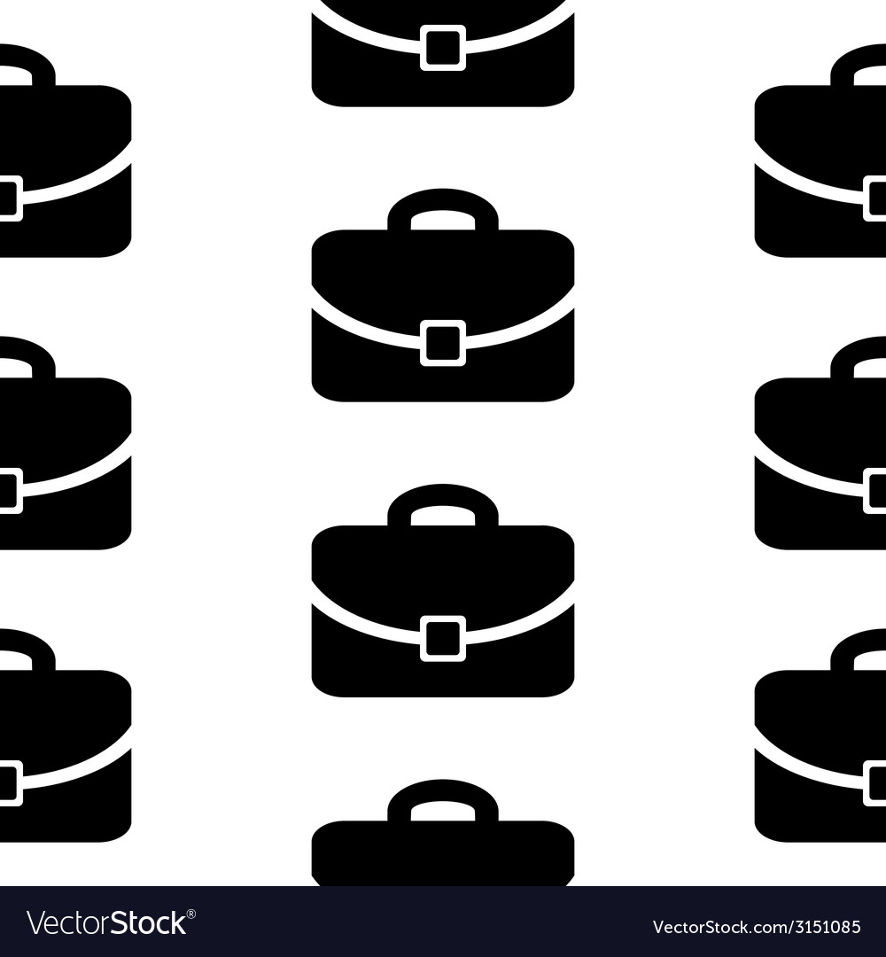 Portfolio symbol icon seamless pattern vector image