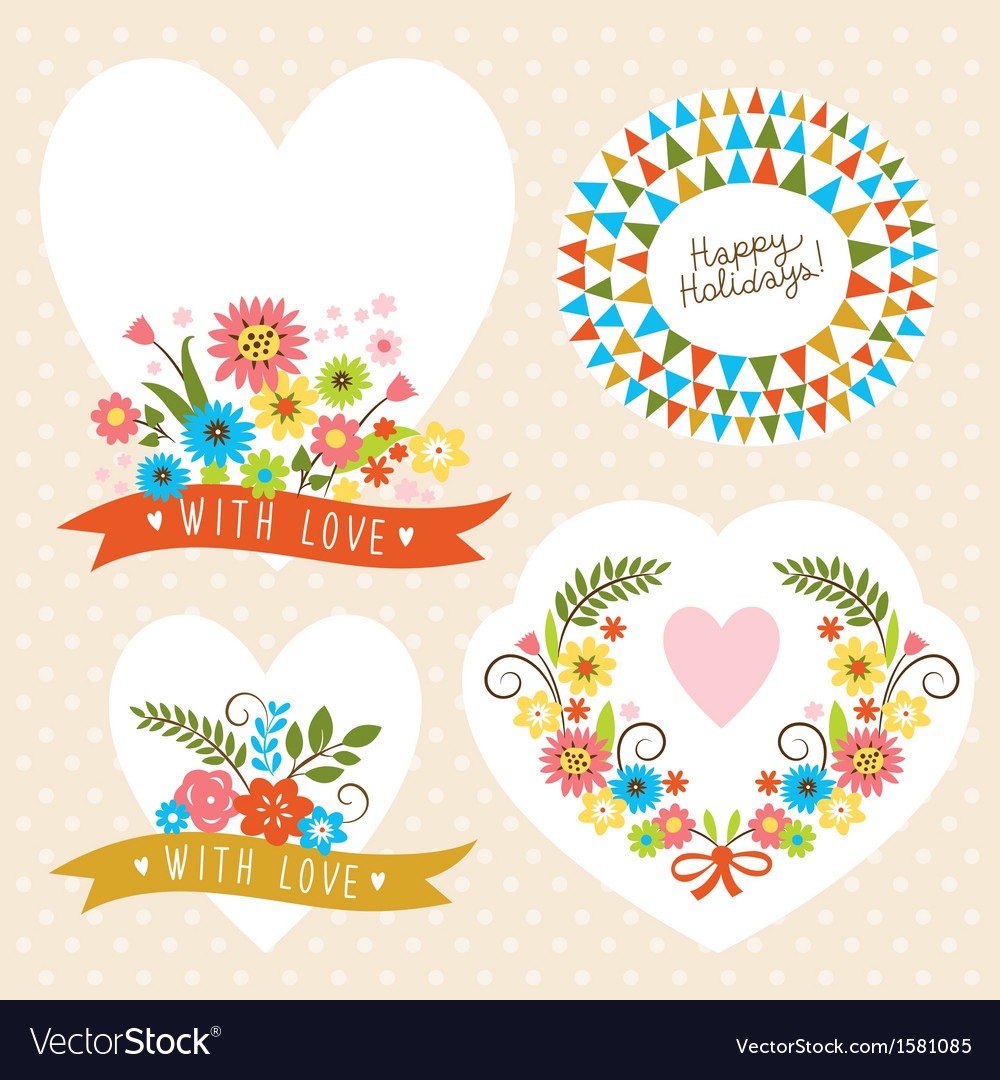 Set of holiday graphic elements