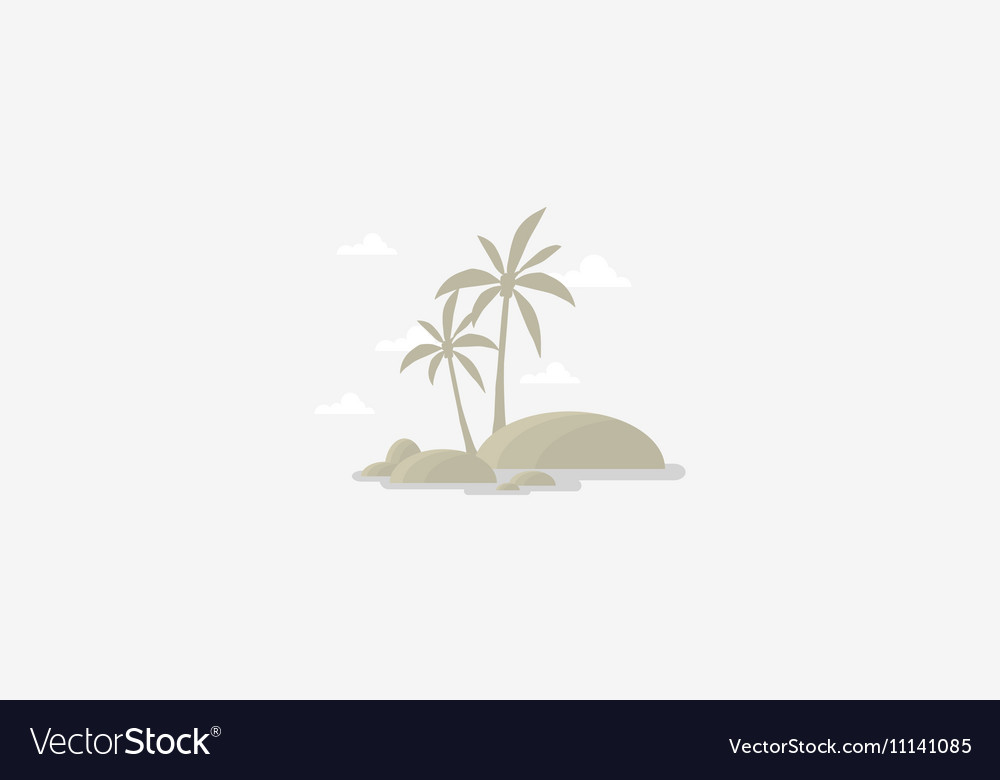 Silhouette of palm and sky scenery vector image