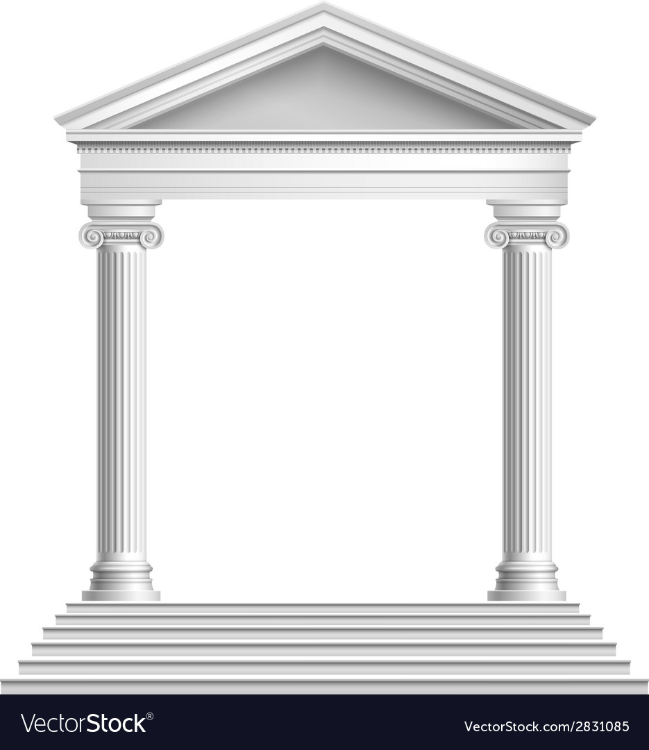 Temple front with columns vector image