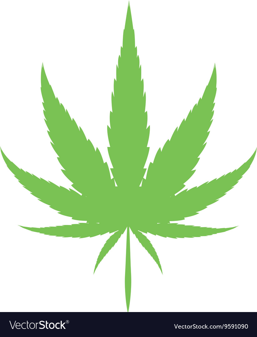 Cannabis Marijuana Leaf Royalty Free Vector Image