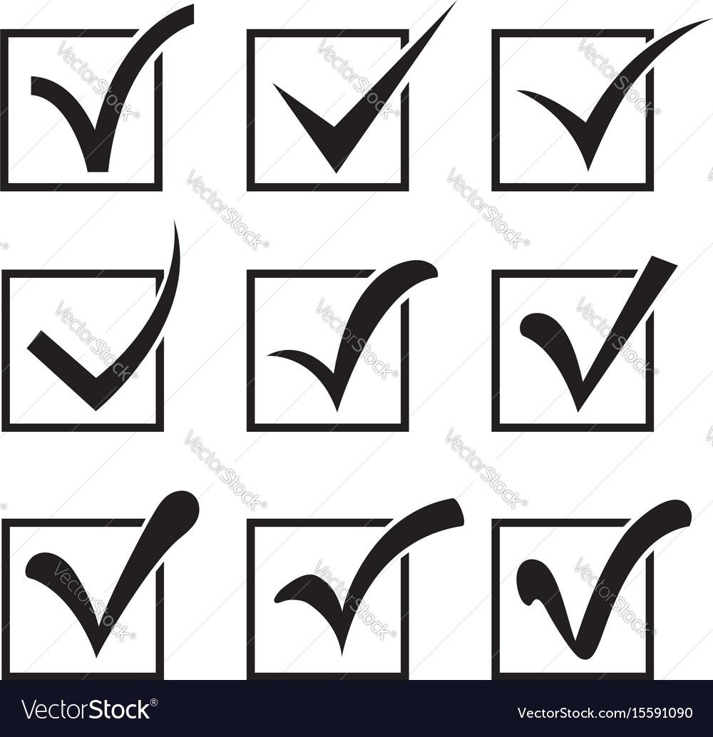 Checkbox icons vector image