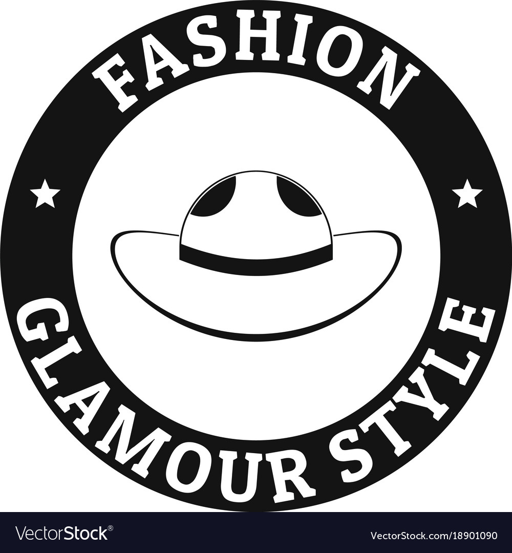 glamour hat logo simple black style royalty free vector