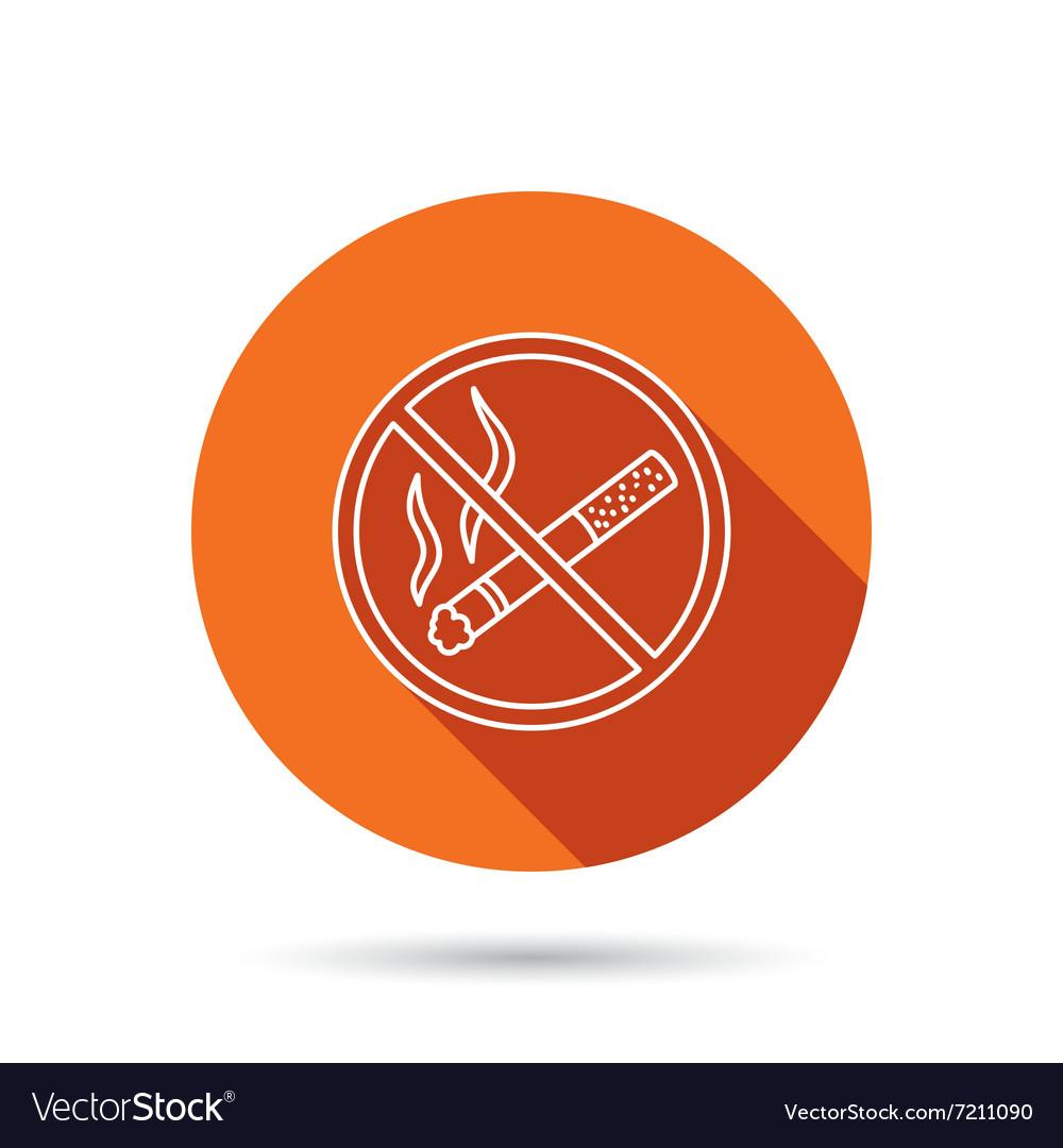 no smoking icon stop smoke sign royalty free vector image