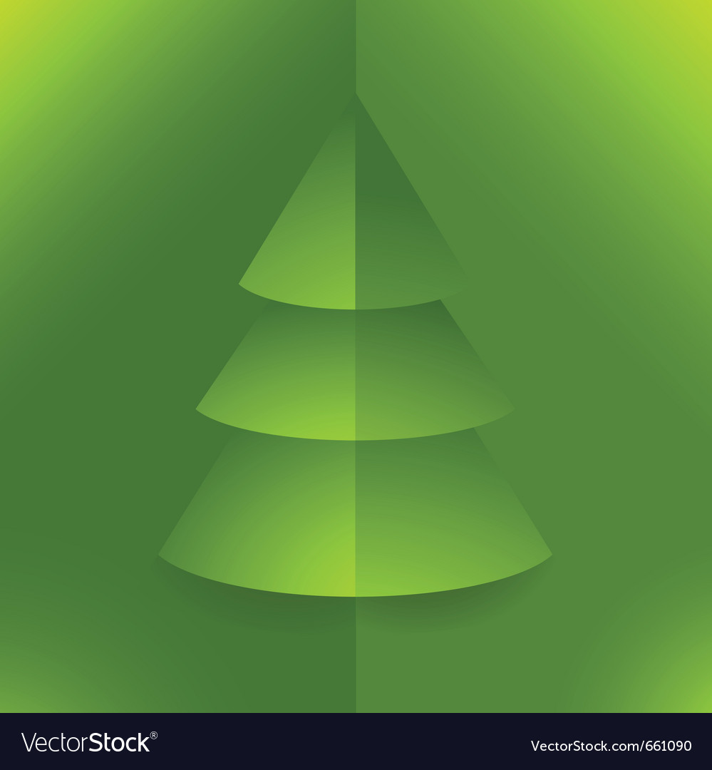 Pop Up 3d Paper Christmas Tree Royalty Free Vector Image