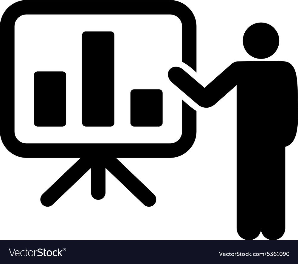 Presentation icon vector