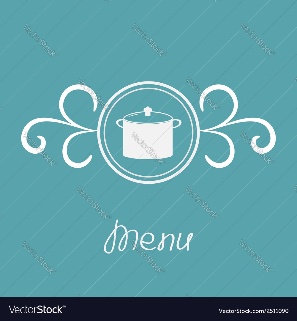 Saucepan and round frame with calligraphic design