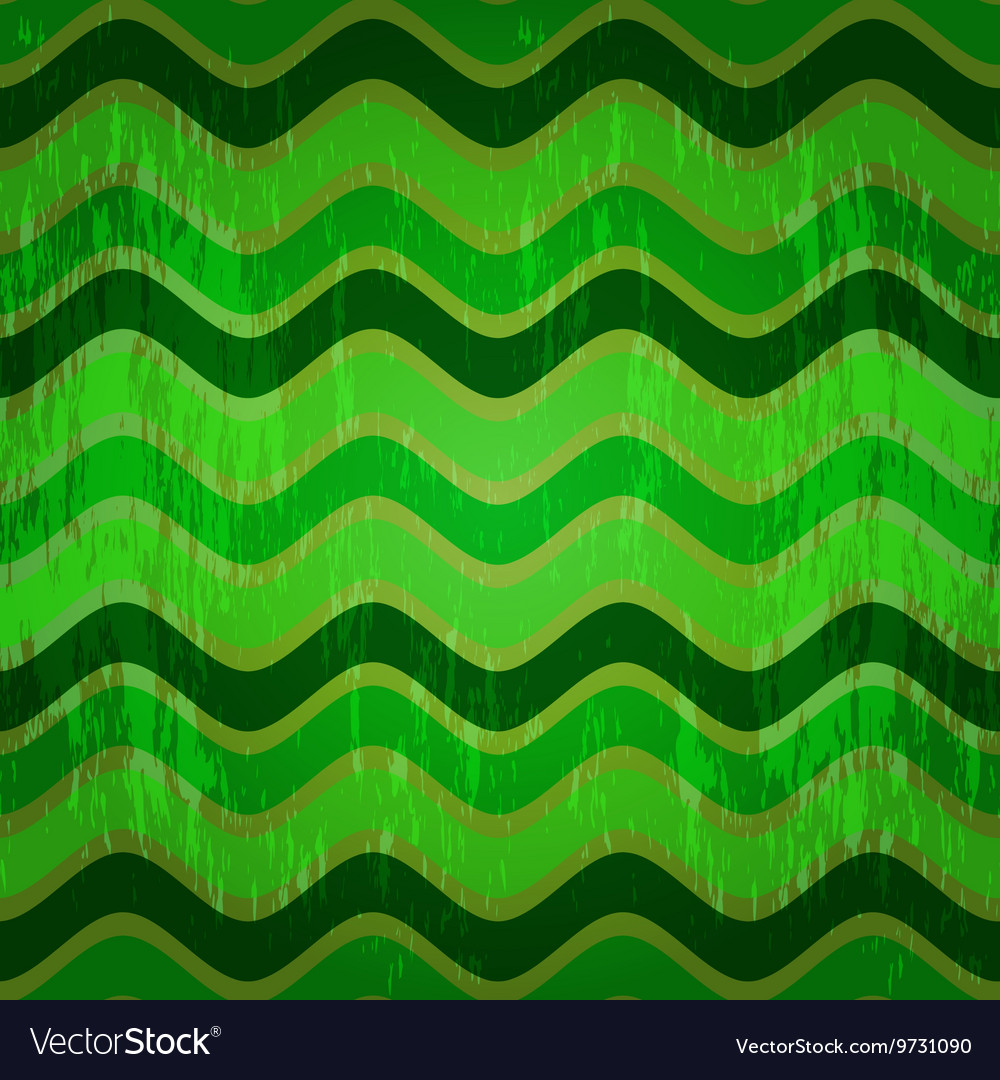 Seamless pattern with green waves vector image