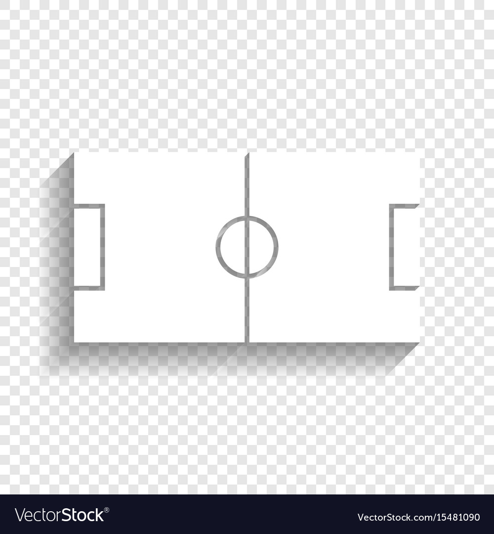 Soccer field white icon with soft shadow vector image ccuart Image collections