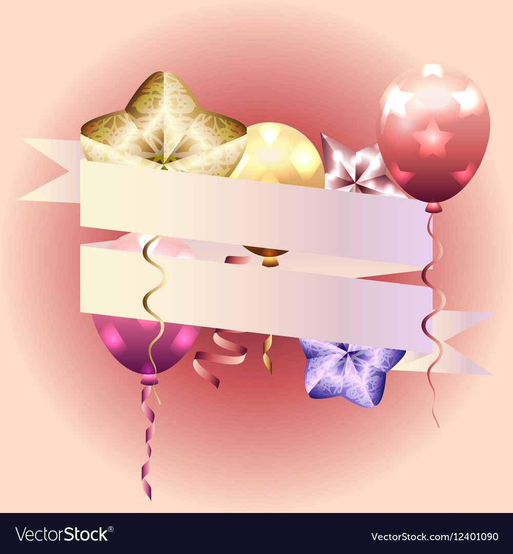 Template for invitation birthday card postcard vector image