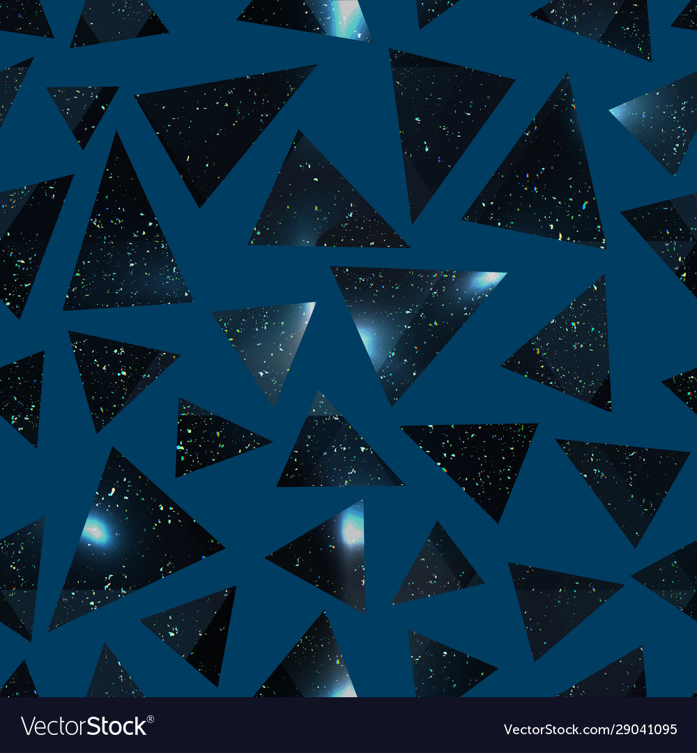 Abstract triangle pattern with grunge effect