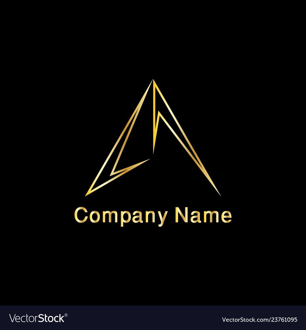 Arrow shape triangle logo