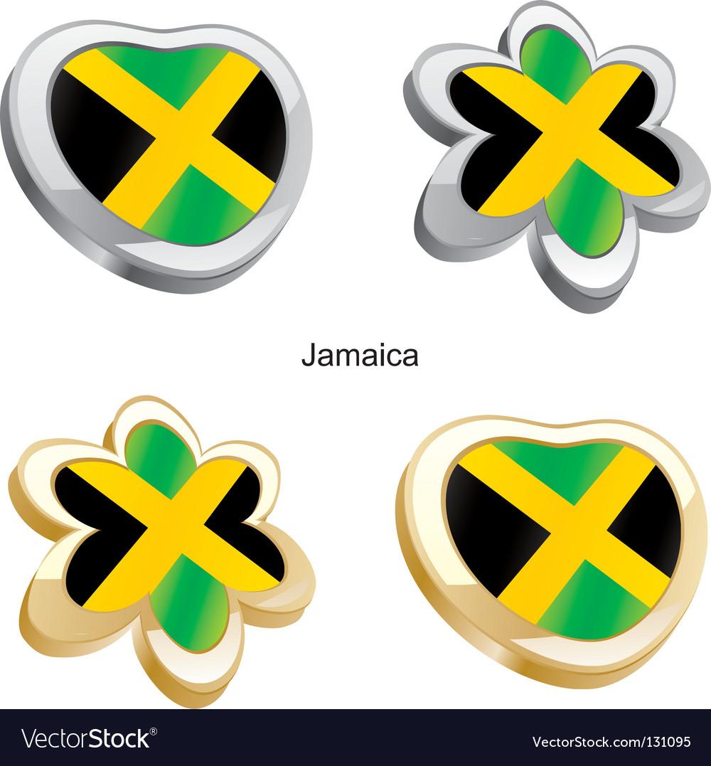 Flag Of Jamaica Royalty Free Vector Image Vectorstock